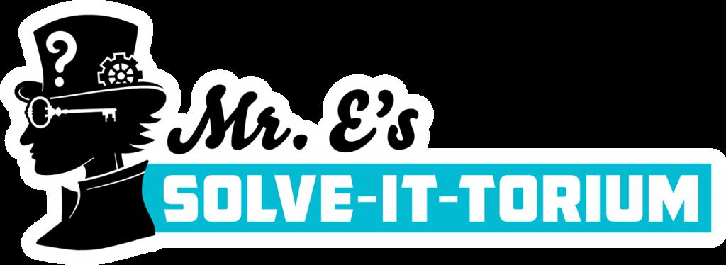 Mr. E's Solve-it-torium logo