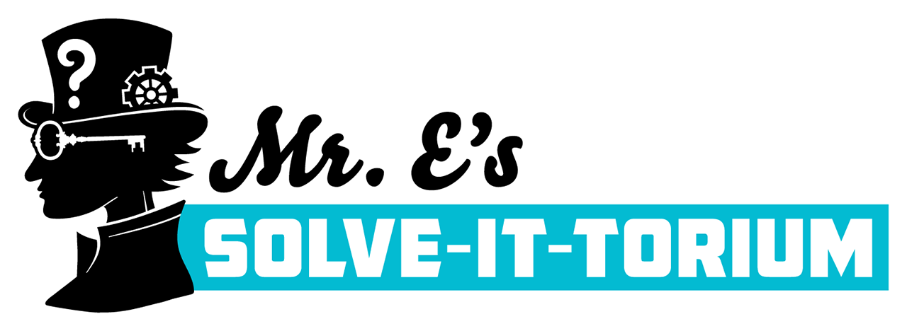 Mr. E's Solve-it-torium logo